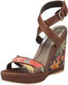 Stuart Weitzman Ankle-wrap Wedge Sandal - Lyst