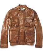 Belstaff Brad Perforated Leather Jacket - Lyst
