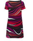 M Missoni Printed Bow Dress - Lyst