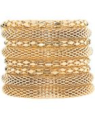 ASOS Collection Asos Gold Metal Bracelet Pack - Lyst
