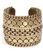 DANNIJO Brass Chained Cuff - Lyst