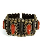 DANNIJO Oxidized Brass Plated Barbora Cuff with Cameos - Lyst