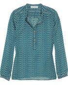 Etoile Isabel Marant Helba Printed Cotton Blouse - Lyst