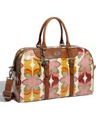 Fossil Vintage Key-per Coated Canvas Duffle Bag - Lyst