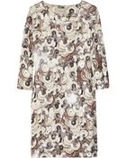 Emma Cook Sequin-print Cotton and Silk-blend Shift Dress - Lyst