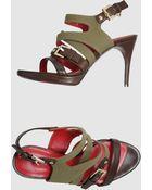 Cesare Paciotti Platform Sandals - Lyst