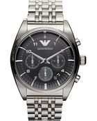 Emporio Armani Domed Crystal Bracelet Watch - Lyst