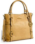 MICHAEL Michael Kors Bedford Python Embossed Leather Tote - Lyst
