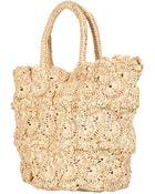 Topshop Crochet Shopper Bag - Lyst