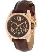 Michael Kors Rose Gold & Brown Watch - Lyst