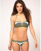 Mara Hoffman Ibis V Bandeau Bikini - Lyst