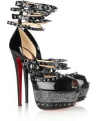 Christian Louboutin 20th Anniversary Isolde 160 Patentleather Sandals - Lyst