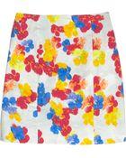 Erdem Adele Printed Stretchcotton Mini Skirt - Lyst