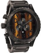 Nixon The 5130 Chrono Tigerseye Watch - Lyst