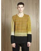 Comme des Garçons Wool Blend Striped Sweater - Lyst
