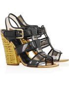 Dolce & Gabbana Leathertrimmed Pvc Sandals - Lyst