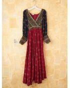 Free People Vintage Floral Peasant Maxi Dress - Lyst