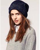 ASOS Collection Asos Metallic Knit Beanie - Lyst