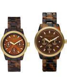 Michael Kors Mini Tortoise Acrylic Watch - Lyst