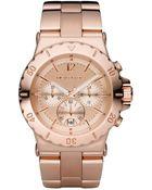 Michael Kors Women'S Dylan Rose Gold-Tone Stainless Steel Bracelet Watch 42Mm Mk5314 - Lyst