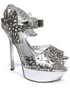 Sergio Rossi Metallic Laser Cut Platform Sandals - Lyst