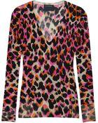 Class Roberto Cavalli Leopard Print Wool Sweater - Lyst