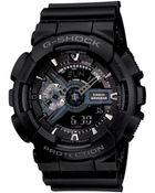 G-Shock Men'S Analog Digital Black Resin Strap Watch Ga110-1B - Lyst
