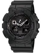 G-Shock Men'S Black Resin Strap Watch Ga100-1A1 - Lyst