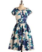 ModCloth Rose Menagerie Dress - Lyst