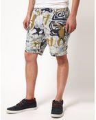 Vanishing Elephant Patterned Shorts - Lyst
