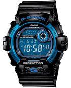 G-Shock Men'S Digital Black Resin Strap Watch 46Mm G8900A-1 - Lyst