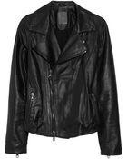 Lot78 Zoe Leather Biker Jacket - Lyst