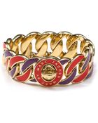 Marc By Marc Jacobs Enamel Turnlock Stripey Katie Bracelet - Lyst