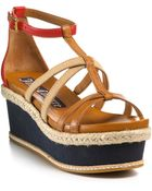 Juicy Couture Sandals Moira Flat Strappy Wedges - Lyst
