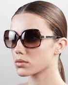 Roberto Cavalli Albizia Square Sunglasses  - Lyst
