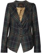 Vivienne Westwood Anglomania Jabot Cross Checked Wool Jacket - Lyst