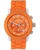 Michael Kors Round Circledetail Timepiece Orange - Lyst