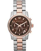 Michael Kors Stainless Rose Gold Watch - Lyst