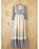 Free People Vintage Blue and White Gunne Sax Dress - Lyst