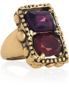 Oscar de la Renta 24karat Goldplated Crystal Ring - Lyst