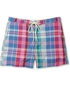Gant Rugger Madras Check Cotton Blend Swim Shorts - Lyst