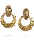 Oscar de la Renta 24karat Goldplated Hoop Clip Earrings - Lyst