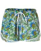 Clover Canyon Multicolor Passion Flower Print Shorts - Lyst