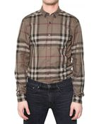 Burberry Brit Checked Cotton Twill Shirt - Lyst