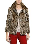 Isabel Marant Leopard Print Rabbit Fur Coat - Lyst
