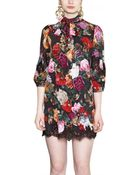 Dolce & Gabbana Printed Silk Charmeuse Dress - Lyst