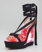 Christian Louboutin Isabelle Fabric Wedge - Lyst