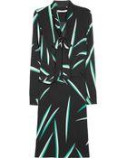 Diane von Furstenberg Rosalie Printed Stretch Silk Wrap Dress - Lyst