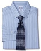 Brooks Brothers Allcotton Noniron Regular Fit Twill Music Stripe Luxury Dress Shirt - Lyst