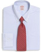 Brooks Brothers Supima Cotton Noniron Traditional Fit Triple Graph Check Dress Shirt - Lyst